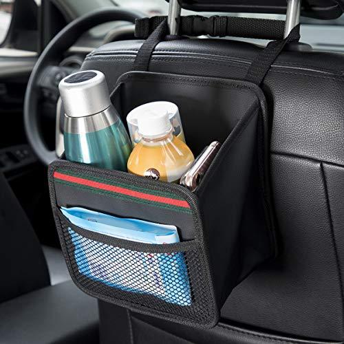 DKIIGAME Car Organizer Back Seat,Hanging Premium Car Seat Organizer,Waterproof Odorless VinylLeather Mini Trash Bag