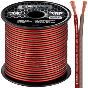 InstallGear 14 Gauge Speaker Wire OFC Oxygen-Free Copper, 100-feet