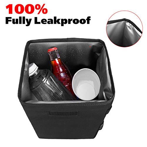 Auto Car Garbage Can, 100% Leak-Proof Car Organizer Manfiter Car Trash Can, Auto Car Garbage Can, 100% Leak-Proof Car Organizer, Multipurpose Waterproof Car Trash Bag, Hanging Car Trash Bin (Basic Black)