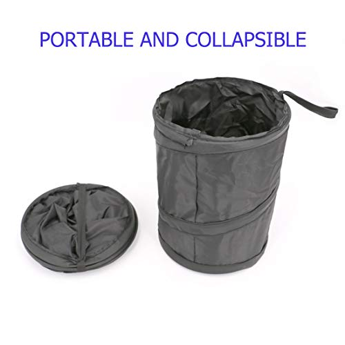 Portable Garbage Bin Collapsible Pop-up Leak Proof Our UTSAUTO Car Trash Can Retains Your Car Clear & Trash Free!