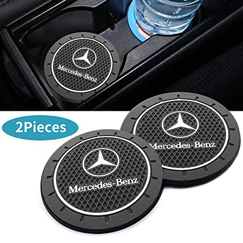 2Pcs 2.8 Inch Durable Anti Slip Cup Mat for Mercedes Benz,for All Mercedes Benz Cup Holder Insert Coaster pad