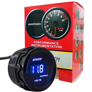 HOTSYSTEM Electronic Voltmeter Voltage Volt Gauge Meter Blue Digital LED 2inches 52mm for Car Vehicle Auto