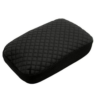Ezzy Auto Black Leather Console Center Armrest Lid Cover Skin Protector Jacket for Honda Civic