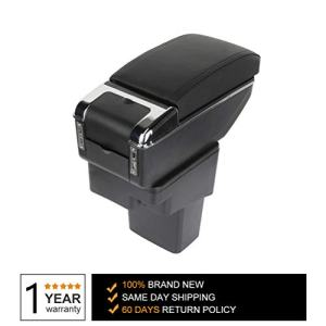 TUPARTS Center Console Armrest Storage Box Replacement Kit fit for 2010-2015 Nissan Juke, Black
