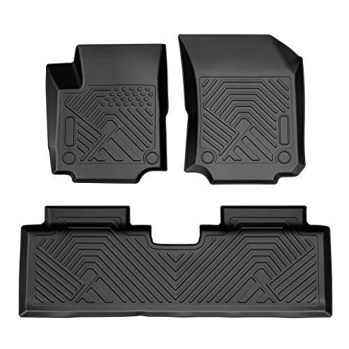COOLSHARK Chevy Equinox Floor Mats, Custom Fit Floor Liners for 2018-2020 Chevrolet Equinox, Full Set Floor Mats All Weather Protection,Black Color