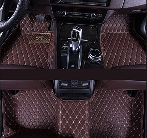 Dedicated Full Surrounded by Car Mats for Nissan Kai Chen D50 R50 T70 Sunshine Qi Jun Waterproof No Odor Carpets Non Slip,Brown