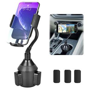 Car Cup Holder Phone Mount,Universal Cup Holder Smart Phone Cradle Adjustable Automobile Cell Phone Mount for iPhone 11 pro/Xs/Max/X/XR/8/7 Plus Samsung Galaxy S10/S9/S8 Note 9、HTC、Huawei ...