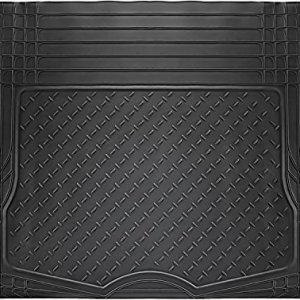 OxGord All-Weather Rubber Cargo-Liner Floor-Mat - Waterproof Trunk Protector/Cover for Rear - Best for Rough Luggage, Dog, Pets, Spills, Car, SUV, Minivan, Truck, Black
