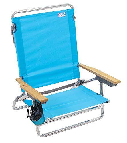Rio Beach Classic 5 Position Lay Flat Folding Beach Chair - Turquoise