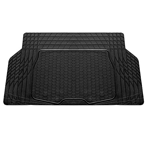 """FH Group F16403BLACK Cargo Mat Fits Most Sedans, Coupes and Small SUVs(Semi Custom Trimmable Vinyl Black) 55"""" x 32"""