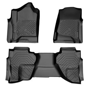 COOLSHARK Chevy Silverado Floor MATS, Custom Fit Floor Liners for 2014-2018 Silverado or GMC Sierra 1500, 2015-2019 Silverado or GMC Sierra 2500HD/3500HD,Double Cab Only