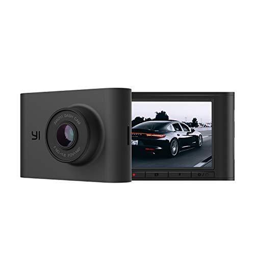 "YI Nightscape Dash Cam, 1080p Smart Wi-Fi Car Camera with Heat-Resistant Supercapacitor, Superb Night Vision, Sony Sensor, 140° FOV, 2.4""Screen, Phone App - Black"