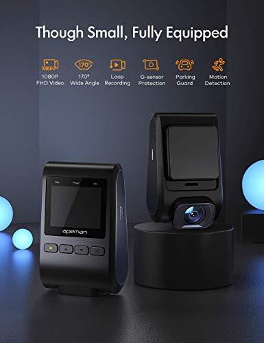Mini Dash Cam with Hidden Design, 1080P Full HD APEMAN C370 - Mini Discreet Dash Cam