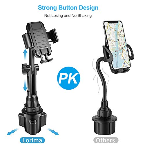 Cupholder Cell Phone Holder for Smartphone iPhone 11 Pro Lorima Car Cup Holder Phone Mount -Adjustable Cupholder Cell Phone Holder for Smartphone iPhone 11 Pro/XR/Xs/XS Max/X/8/7Plus/Galaxy/Xperia/Samsung