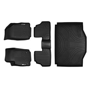 MAX LINER A0129/B0129/D0129 Custom Fit Floor Mats 2 Rows and Cargo Liner Set Black for 2013-2019 Buick Encore / 2014-2019 Chevrolet Trax
