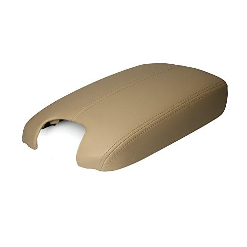 A ABIGAIL Center Console Armrest Cover for 2008 2009 2010 2011 2012 Honda Accord Auto Leather Suture Console Lid Cover Replacement (Beige)