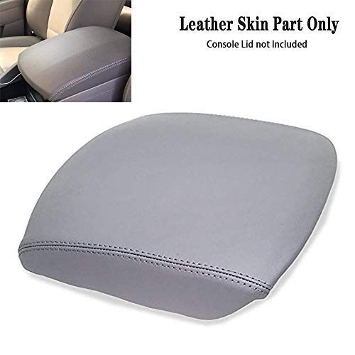 DSparts Fits For 2009-2013 Honda Pilot Leather CONSOLE LID ARMREST COVER Leather Part Only Gray