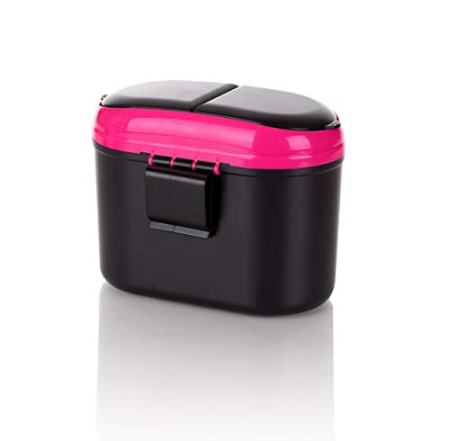 Trash Can with Double Cover, 0.8L Auto Garbage Bin Handy Car Accent for Litter-Free Car