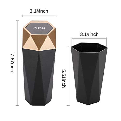 Car Trash Can with Lid, New Car Dustbin Diamond Design You might have a variety of bother driving:Annoyance 1 Garbage water stains: the rubbish on the mat, water stains on the cushion, flying particles and different impurities of bigger particles, the difficulty is infinite.