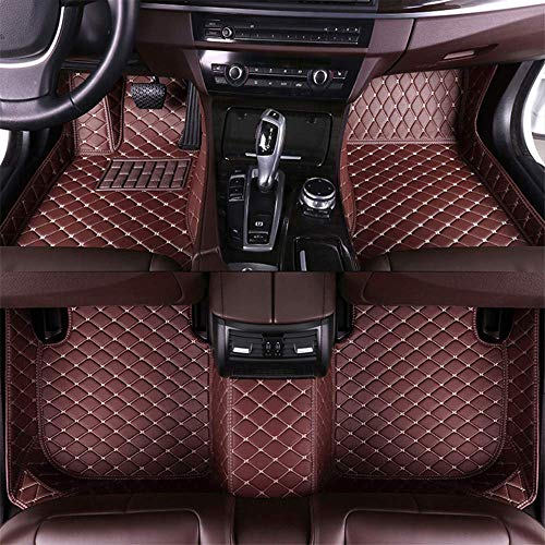 Maite Custom Car Floor Mat for BMW Full Surrouded XPE Leather Waterproof Carpets Mats Coffee Color