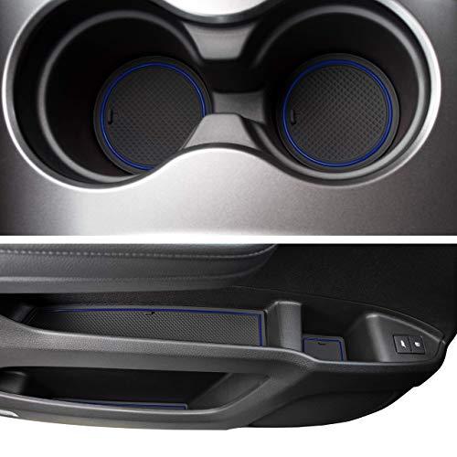 CupHolderHero for Honda Pilot 2016-2020 Custom Liner Accessories - Premium Cup Holder, Console, and Door Pocket Inserts 31-pc Set (Dark Blue Trim)