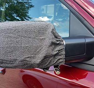 ProKevLock anti-theft side mirror and rear view mirror theft protection cover made from Kevlar fabric anti-cutting material with cable lock fits Cars, SUVs and Trucks protects from ice and bird crap