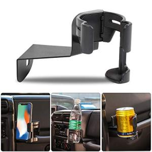 Savadicar TJ Multi-Function Drink Cup Phone Holder, 2 in 1 Bolt-on Stand Bracket Organizer for 1997-2006 Jeep Wrangler TJ