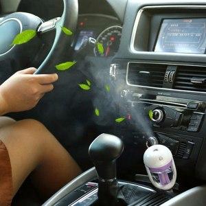 Car Air Purifier New Mini 12V Car Steam Humidifier Air Purifier Aroma Diffuser Essential oil diffuser Car humidifier many Colors