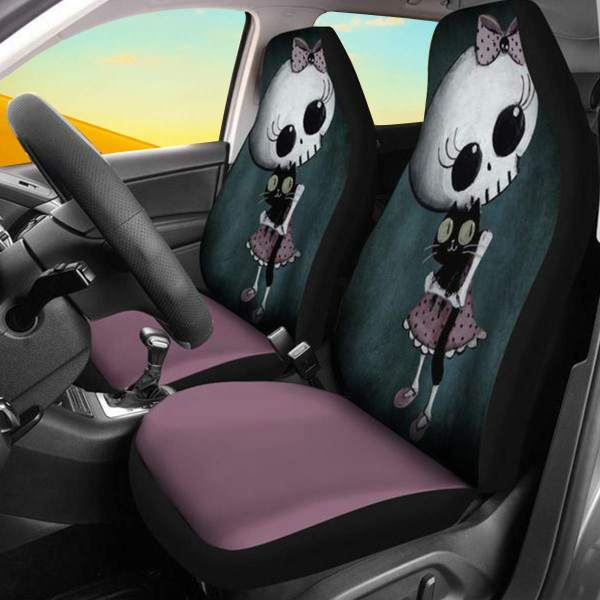 3D Skull Pattern Universal Car Seat Covers