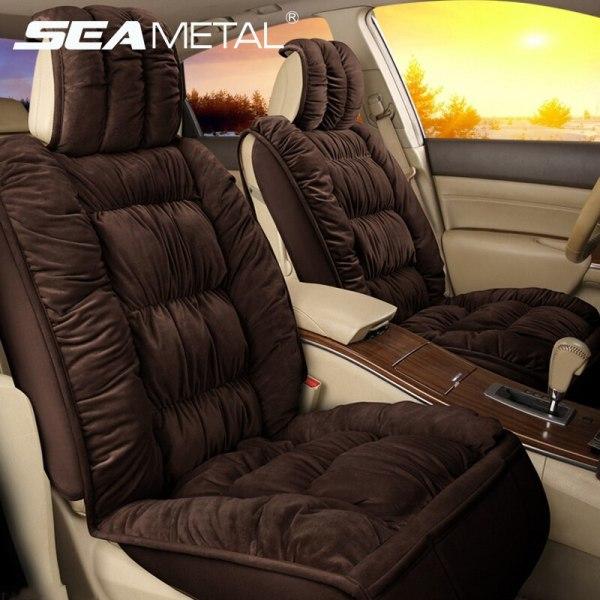 Winter Car Seat Cover Warm Plush Auto Universal
