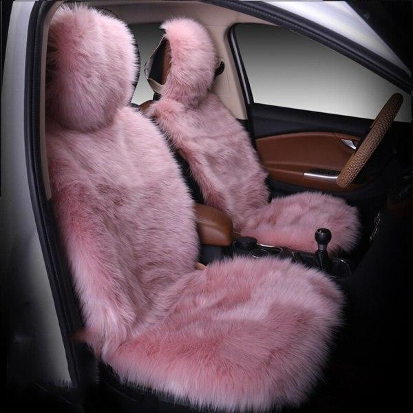 Seat Cover Winter Plush Fur Car Seat Protector