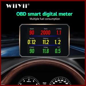 Auto Diagnostic Tool P16 OBD2 Car Engine RPM Gauge