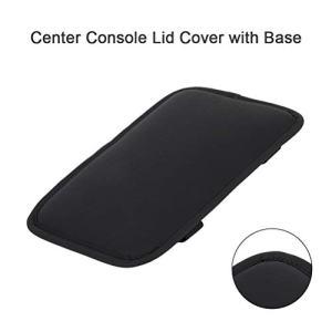 cciyu Armrest Center Console Lid Cover + Base Black