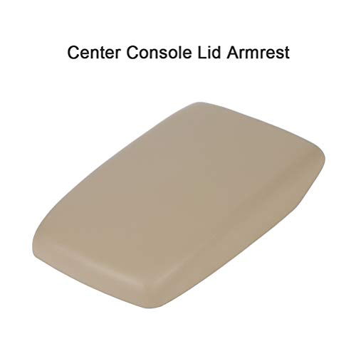 SCITOO Auto Beige Armrest Center Console Lid Skin Cover