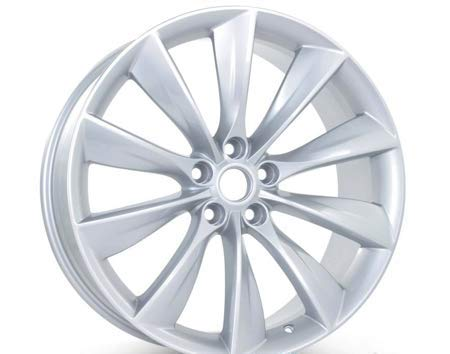 Silver Rim Tesla Model S 2012-2017 21 inch x 9 Rear Wheel