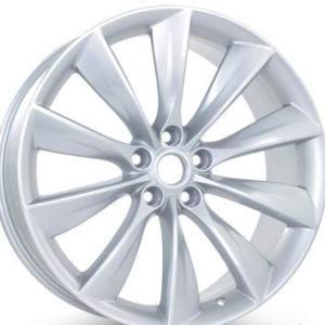 Silver Rim Tesla Model S 2012-2017 21 inch x 9 Rear Wheel