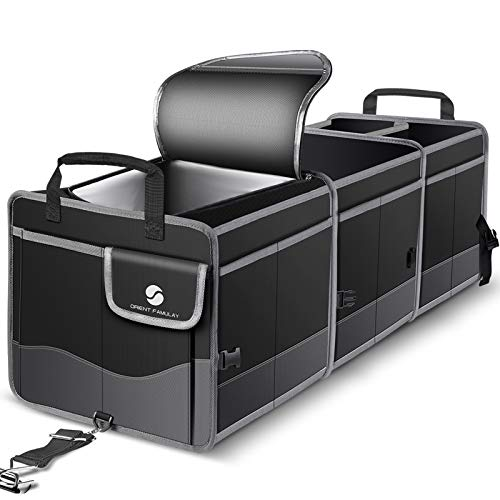 Trunk Organizer with Cooler, Collapsible Trunk Storage Container