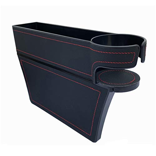 LUCKLYJONE Car Seat Gap Filler, PU Leather Console Side Pocket
