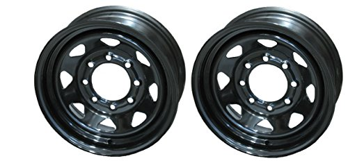 Lug Black Steel Spoke Rim Wheel 2-Pack Trailer Wheels