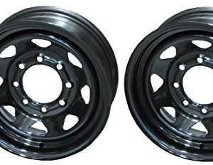 Lug Black Steel Spoke Rim Wheel 2-Pack Trailer Wheels