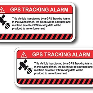 (2 Pack) This Vehicle Protected by GPS Tracking Warning Sticker