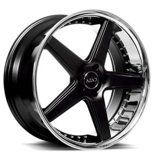 Challenger, Charger, Mustang, Camaro 20 Inch Rims Semi Gloss Black with Chrome Lip Wheels