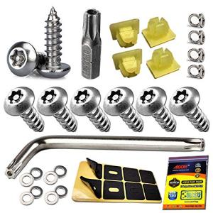 Anti Theft License Plate Screws - Stainless Steel License Plate Frame Screws