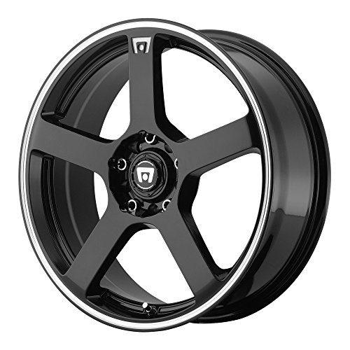 Racing MR116 Gloss Black Wheel With Machined Flange