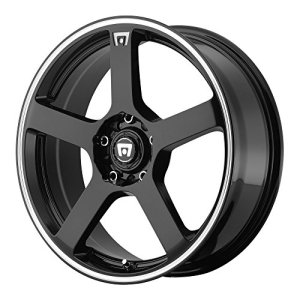 Racing MR116 Gloss Black Wheel With Machined Flange