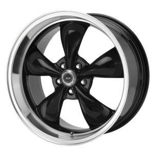 American Racing Custom Wheels Black Wheel With Machined Lip