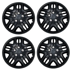 15-Inches Matte Black Hubcaps Wheel Cover