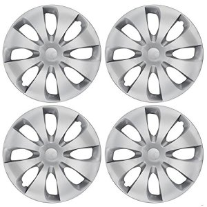 Silver Hubcaps Wheel Covers Full Heat & Impact Resistant Grade – OEM Replacement