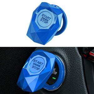 LECART 1Pc Blue Car Engine Start Stop Button
