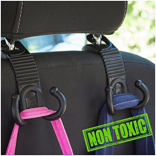ALLTOOLS Car Hooks Back Seat, Headrest Hanger Holder